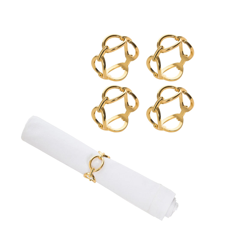 Gold Chain Link Napkin Rings