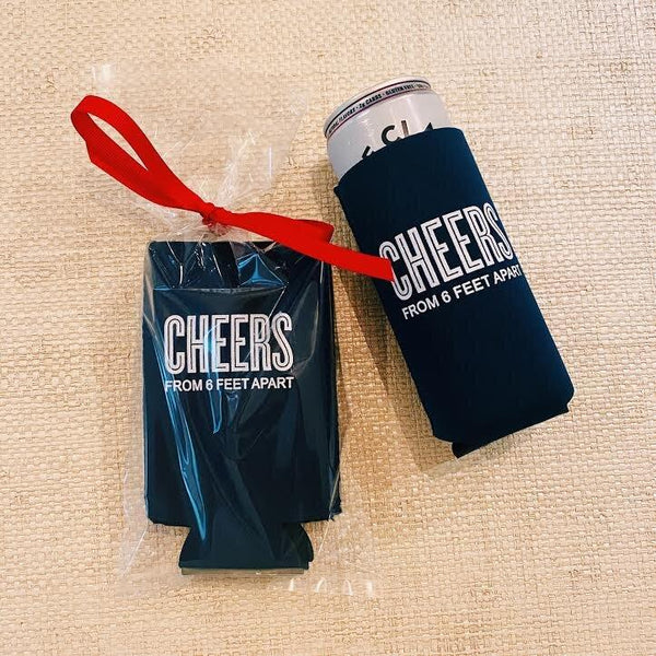 Cheers from 6 Feet Apart Hard Seltzer Koozies