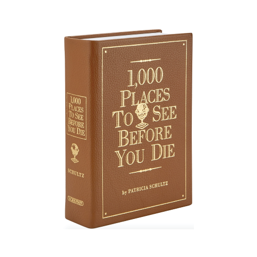 1000 Places to See Before You Die leather bound book
