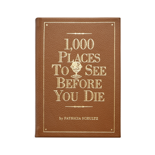 1000 Places to See Before You Die leather bound book in red