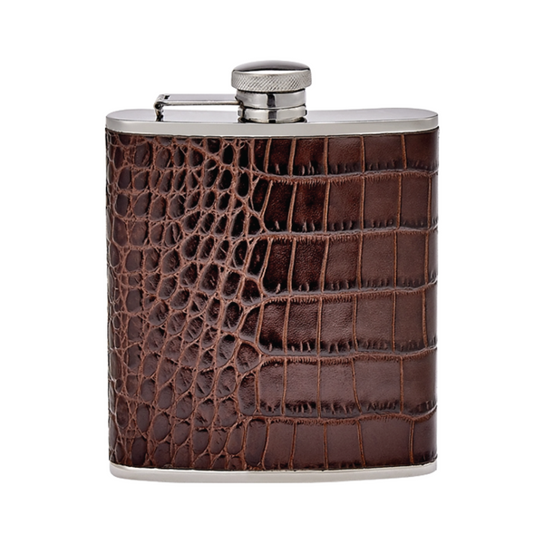 Leather Flask - Brown