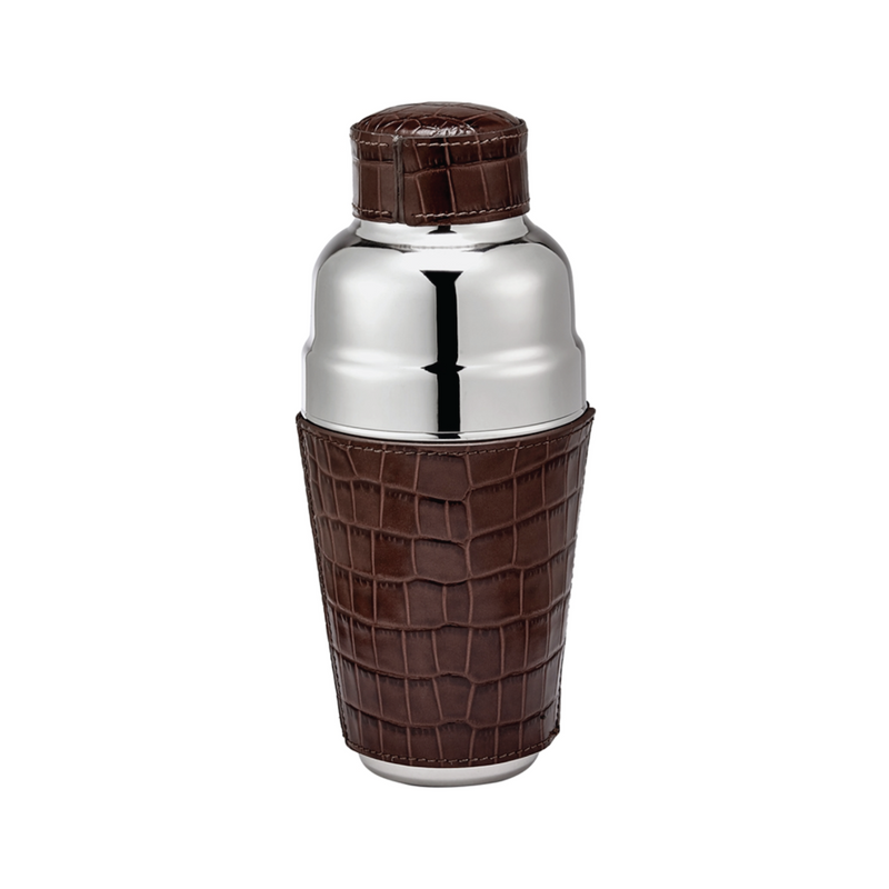 Leather Cocktail Shaker - Brown