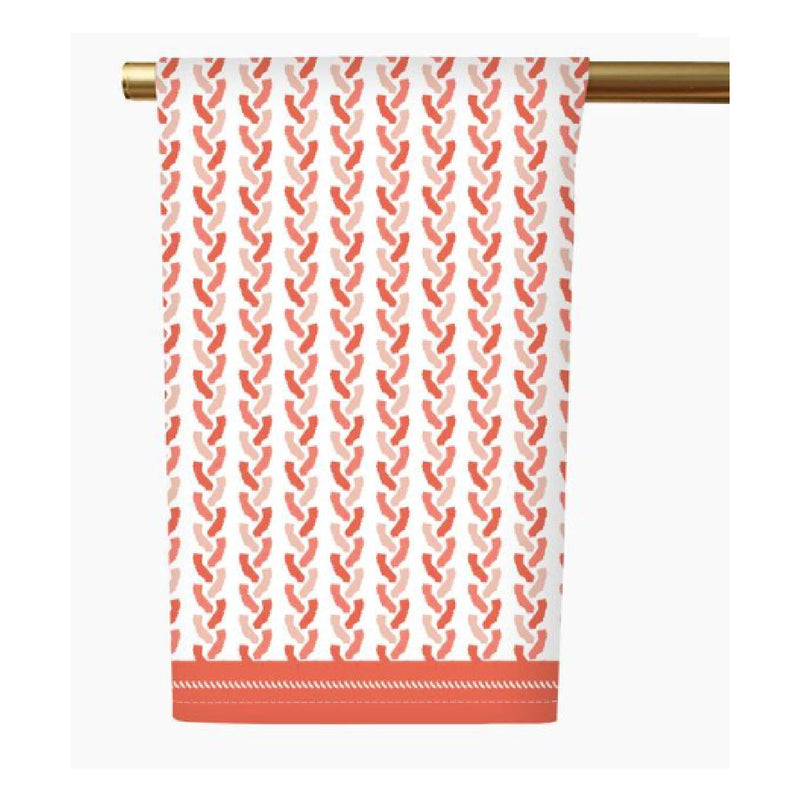 California Tea Towel - Coral