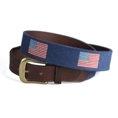 Needlepoint Belt - American Flag