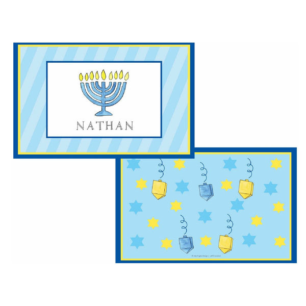 Hanukkah Tabletop Collection - Placemat - Personalized