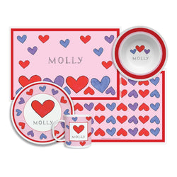 Happy Hearts Tabletop - 4-piece-set - Personalized