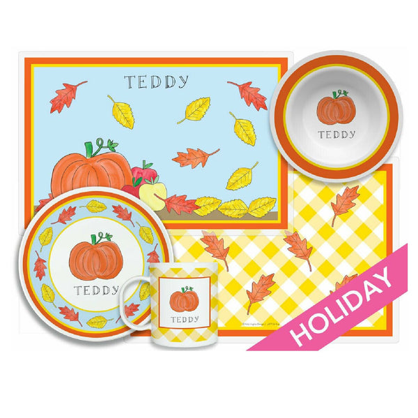Fall Fling Tabletop Collection - Set of 4 - Personalized
