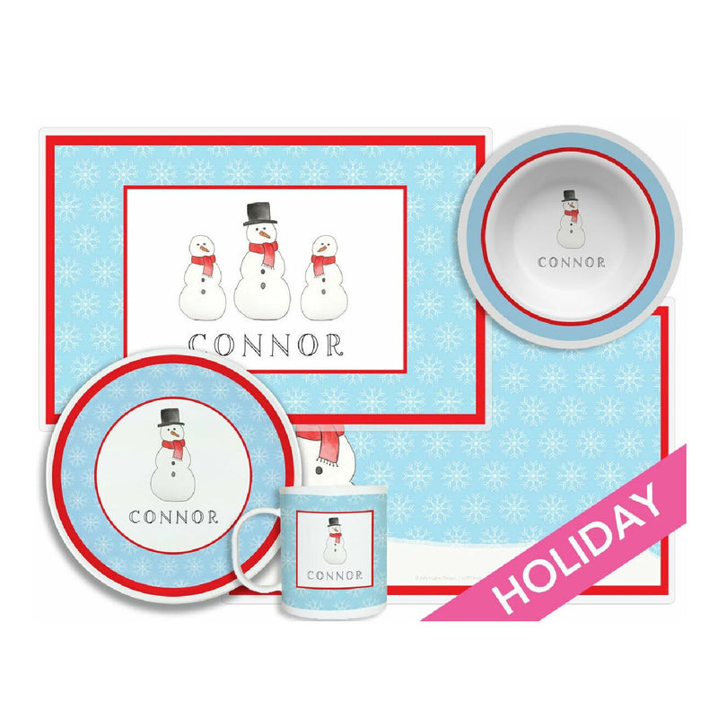 Frosty Snow Man Tabletop - 4-piece set - Personalized
