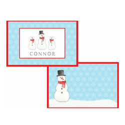 Frosty Snow Man Tabletop - Placemat - Personalized