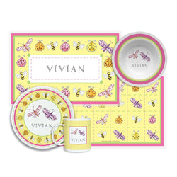 Garden Party Tabletop - 4-piece Set - Personalized