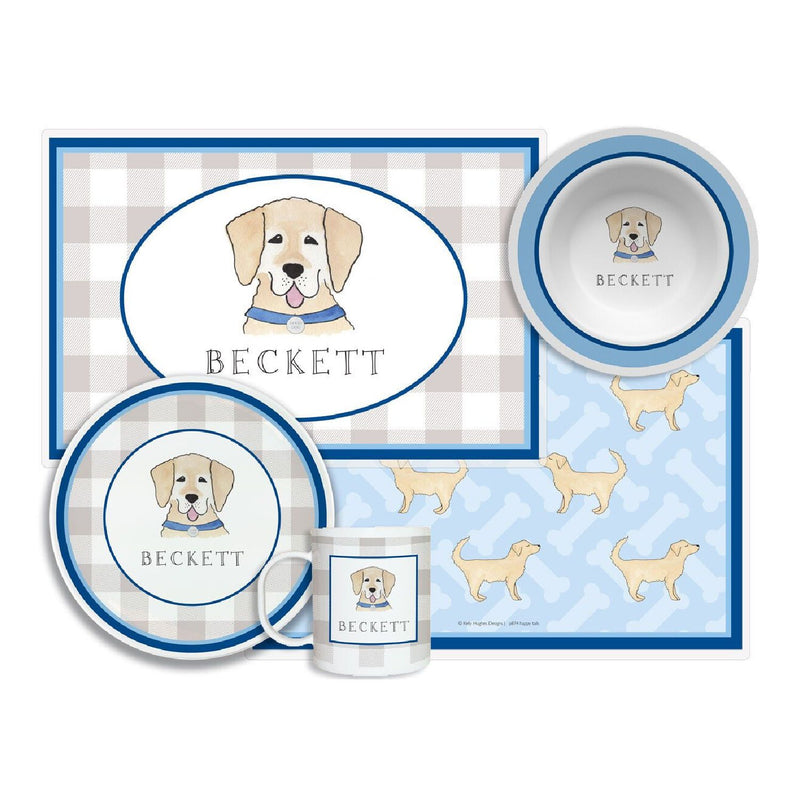 Happy Tails Dog Tabletop Collection - 4-piece-set - Personalized