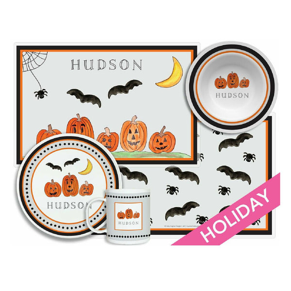 Haunted Halloween Tabletop - 4-piece set - Personalized