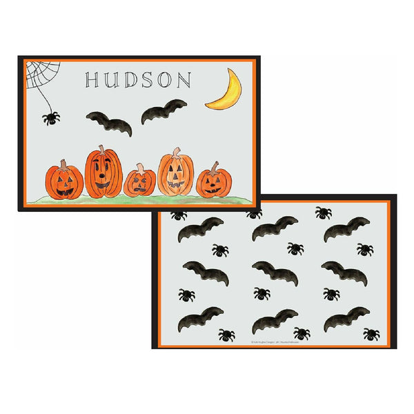 Haunted Halloween Tabletop - Placemat - Personalized