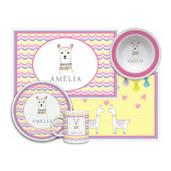 Llama Love Tabletop Collection - 4-piece Set - Personalized