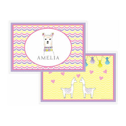 Llama Love Tabletop - Placemat - Personalized