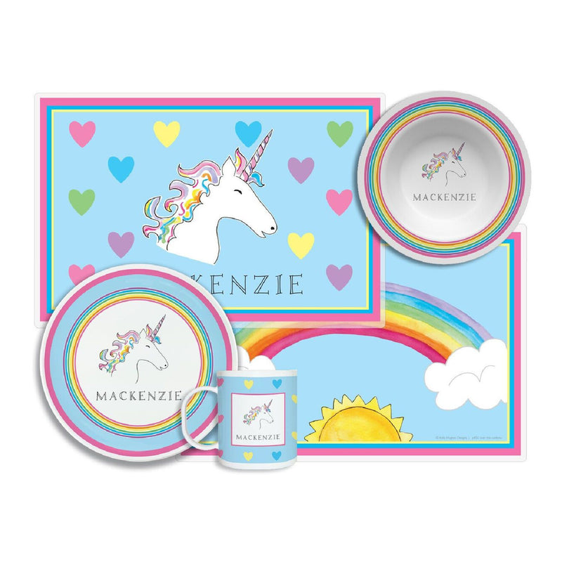 Over the Rainbow Unicorn Tabletop Collection - 4-piece set - personalized