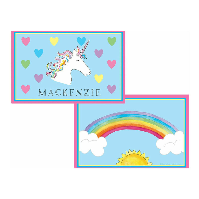 Over the Rainbow Unicorn Tabletop Collection - placemat - personalized