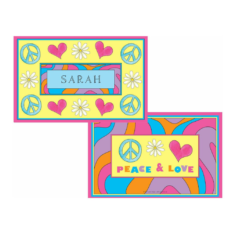 Peace Love Eat Tabletop Collection - Placemat - Personalized