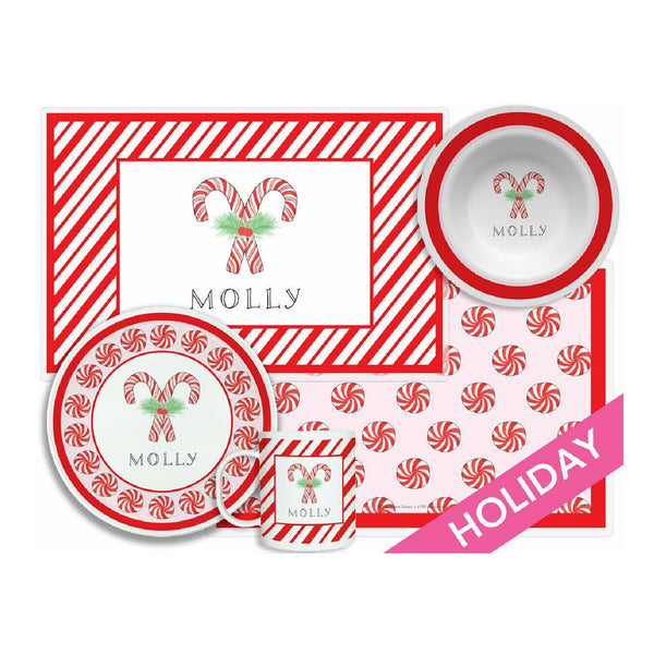 Peppermint Tabletop Collection - 4-piece set - Personalized