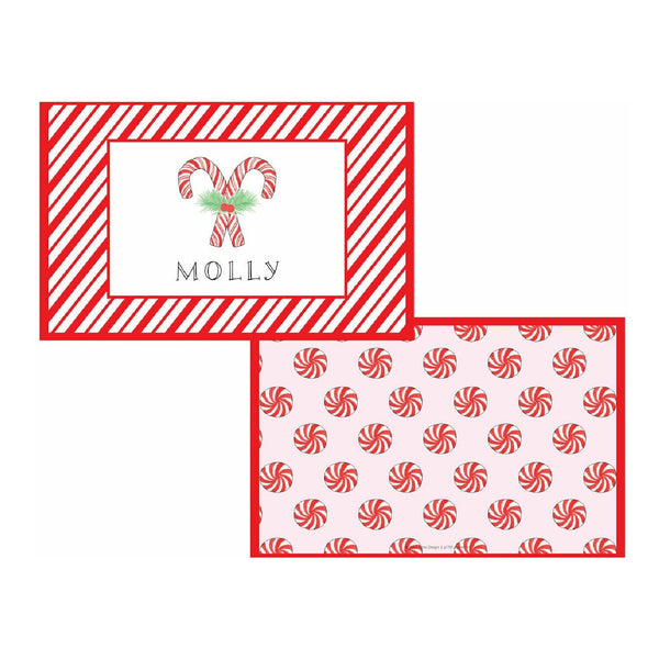 Peppermint Tabletop Collection - Placemat - Personalized