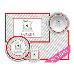 Polar Bear Tabletop Collection - 4-piece set - Personalized