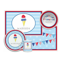 Red, White & Blue Tabletop Collection - 4-piece set - Personalized