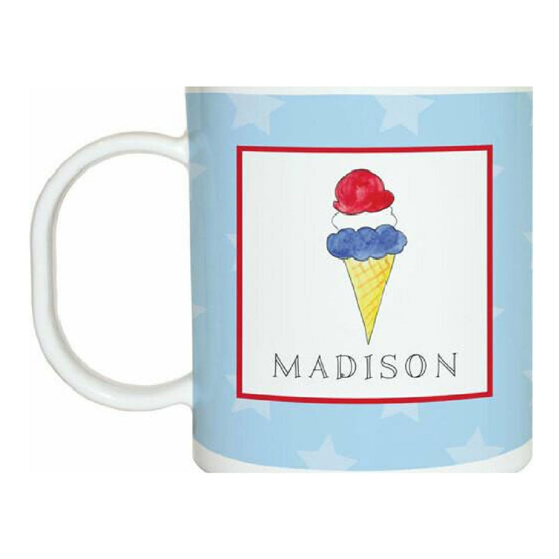 Red, White & Blue Tabletop Collection - Mug - Personalized
