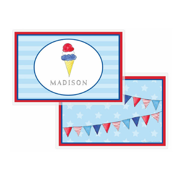 Red, White & Blue Tabletop Collection - Placemat - Personalized