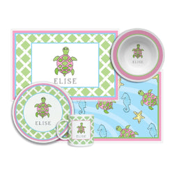 Sea Turtle Tabletop Collection - 4-piece set - Personalize