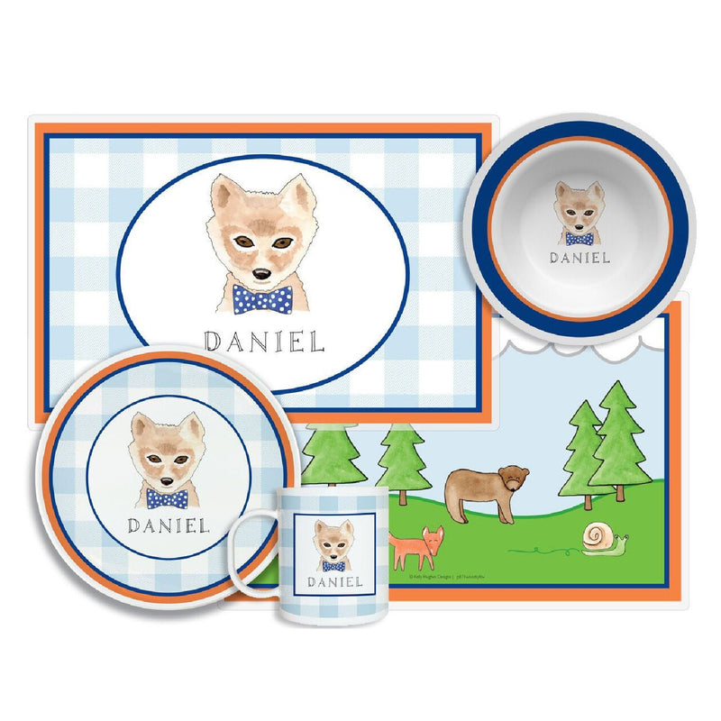 Woodsy Fox Tabletop Collection - 4-piece set - Personalization