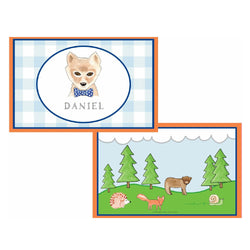 Woodsy Fox Tabletop Collection - Placemat - Personalization