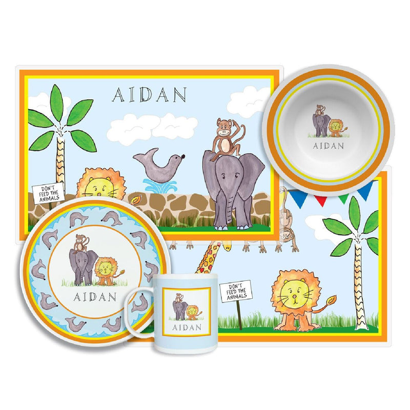 Zoo Friends Tabletop Collection - 4-piece set - Personalized