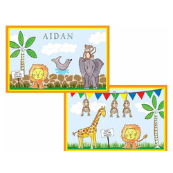 Zoo Friends Tabletop Collection - Placemat - Personalized
