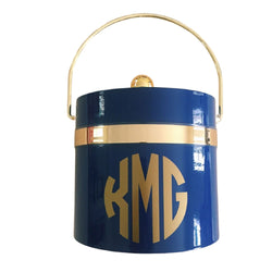 Ice Bucket with Gold Trim - Personalized