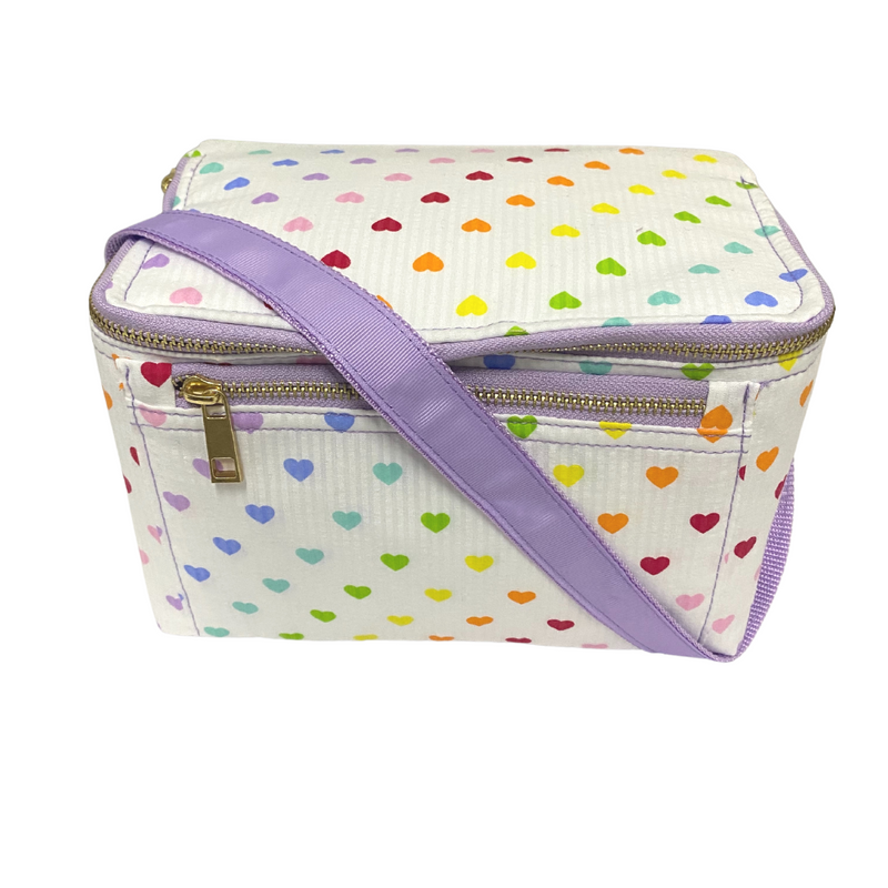 Rectangular Lunch Box - Tiny Hearts