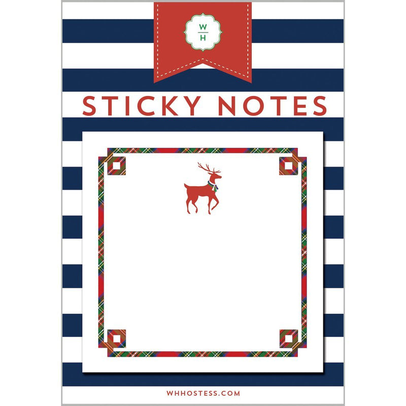 Holiday Sticky Notes - Reindeer