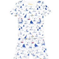 Sailboat Short Pajamas - Monogram or Personalize