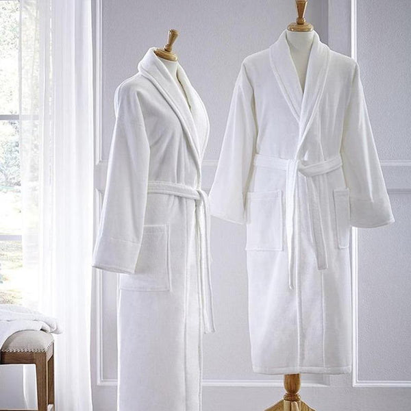 Monogrammed Fairfield Terry Robe - White