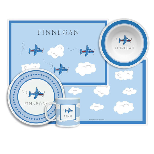 Airplane Tabletop Collection - 4-piece set, personalized