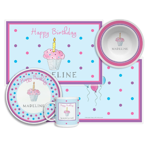 Birthday Cupcake Tabletop Collection - Set of 4 - Personalized