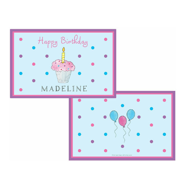 Birthday Cupcake Tabletop Collection - Placemat - Personalized