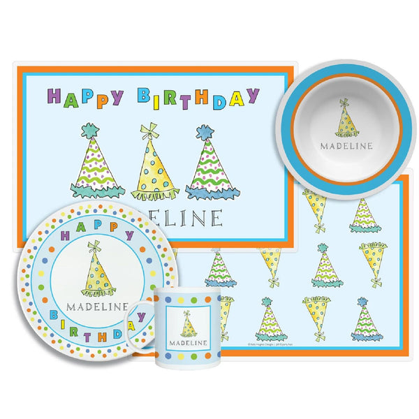 Birthday Party Hats Tabletop Collection - 4-piece Set - Personalized