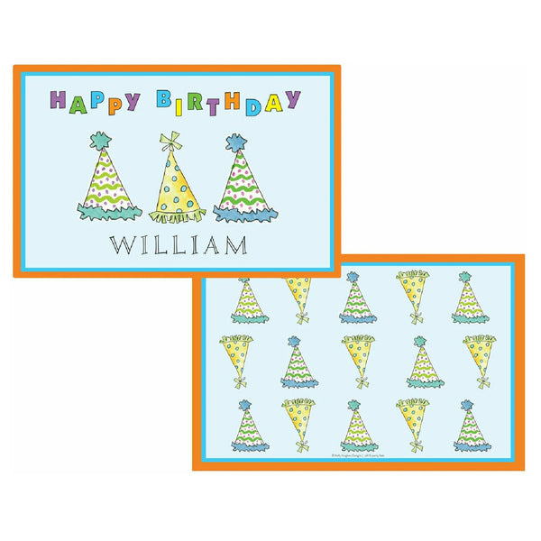 Birthday Party Hats Tabletop Collection - Placemat - Personalized