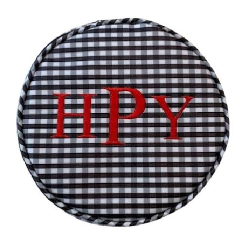 Monogrammed Gingham Jewelry Cases - Black
