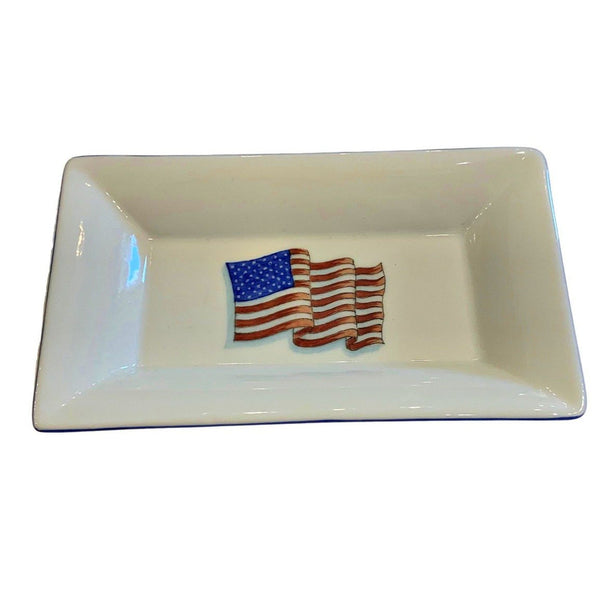 American Flag Rectangular Dish