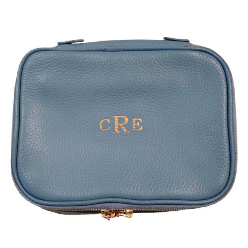 Isabella Jewelry Case - Personalized - Sky