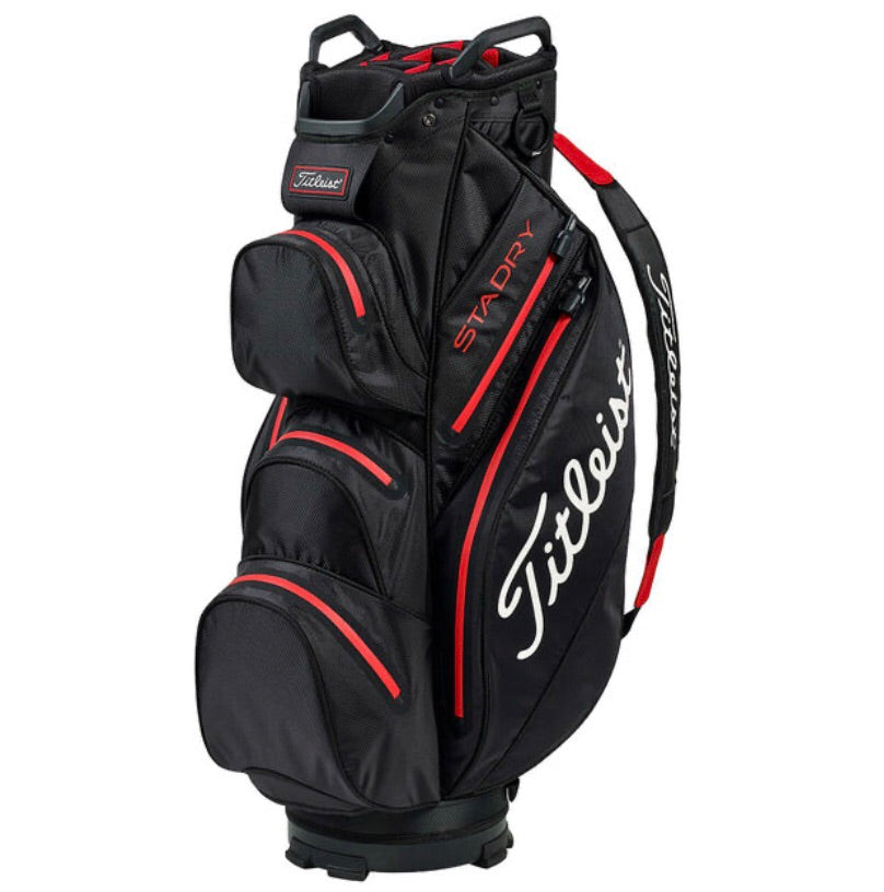 Titleist Sta-Dry Waterproof Cart Bag Black/Red