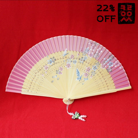 Bamboo_Fan_Folding-type_Pink_Butterfly_Flower_Accessory_In_the_Bag_Gift_and_Souvenir_Korean_Essentials