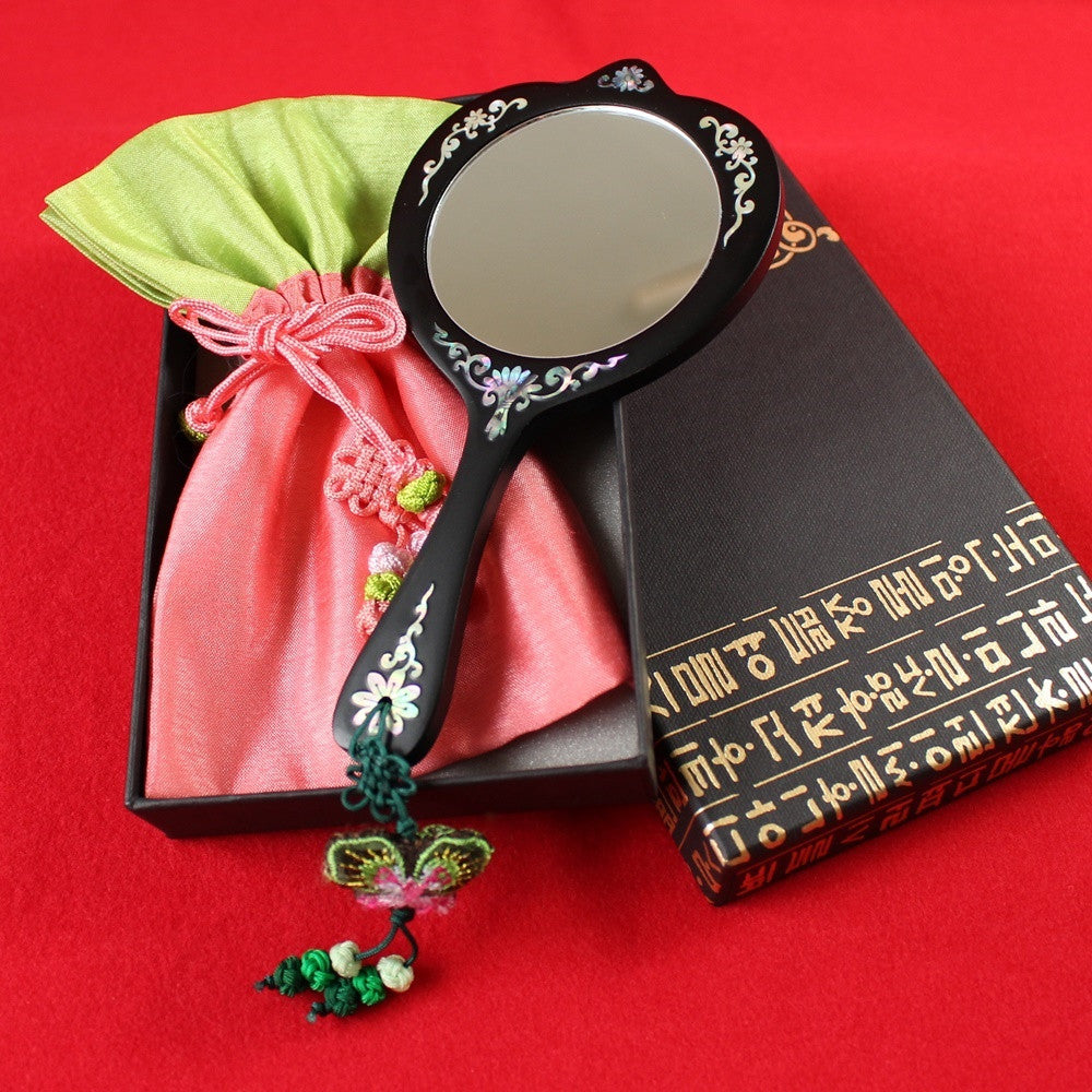 Hand_Mirror_Mother_of_Pearl_Compact_Mirror_Peony_Blossom_Korean_Traditional_Item_Accessory_Gift_and_Souvenir_Korean_Essentials
