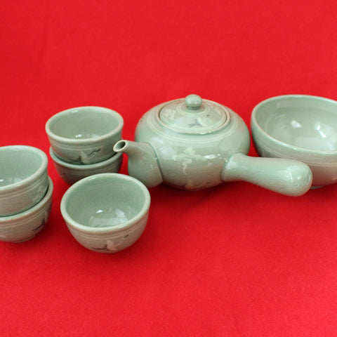 Korean_Traditional_Porcelain_Tea_set_for_five_8pcs_Pottery_Crane_Cloud_Kitchenware_Teacup_Green_Tea_Home_Decor_Oriental_Gift_and_Souvenir_Korean_Essentials